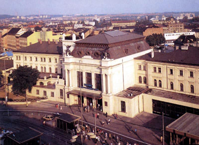 Железнодорожный вокзал в Брно